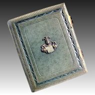 Victorian Leather Photo Album with 104 Original CDV Photos - Dated 1871 Germany