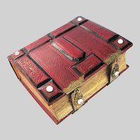 Civil War Era RED Leather Photo Album - EMPTY - Room for 50 CDVs