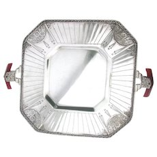 Rhombic Art Deco Modernistic Tray Benedict Silver Plate - Red Tag Sale Item