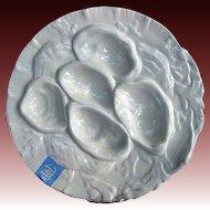 Antique Ironstone Oyster Plate - Burslem Doulton, Staffordshire 1891-1902