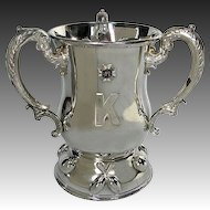 Antique Silver Military Trophy 1904 Bowling 47th Regiment