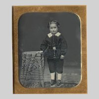 Little Boy Daguerreotype Fancy Outfit c 1857