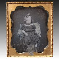 Daguerreotype Little Girl in Shadow Box Frame 6th Plate
