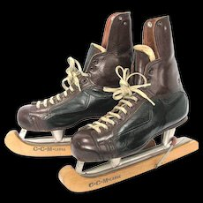 """CCM Tackaberry Ice Hockey Skates pre 1960 the """"Tacks"""" Series with CCM Guards"""