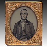 Handsome Gentleman Ambrotype - 6th plate - Flawless.