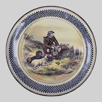 Royal Doulton Sporting Plate c1935 Scottish Bird Hunter with Dogs shooting Quail & Pheasants