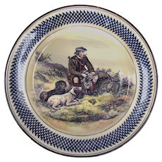 Royal Doulton Sporting Plate c1935 Scottish Bird Hunter with Dogs shooting Quail & Pheasants