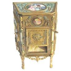 "Superlative Antique French Ormolu Jewelry Cabinet 8 ¼"" high"