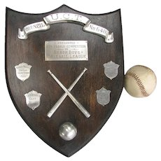 Beach Boys Baseball League Collegiate Trophy Shield - UCT 1952