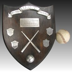 Beach Boys Baseball League Collegiate Trophy Shield - UCT 1952