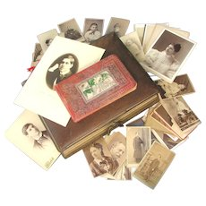 Victorian Personal Photo Album of Celebrated Baritone George Ensworth  c1885