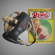 Vintage Boxing Head Guard c1935 - MITRE BRAND - All Leather