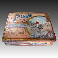 Victorian Polo Sports Tin c1890 - French FELIX POTIN POLO PARIS Biscuit Tin
