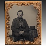 Ambrotype Handsome Outdoors Man Smartly Dressed - Western Look about him