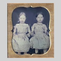 Little Girls Daguerreotype Same Dresses