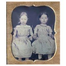 Little Girls Daguerreotype Same Dresses