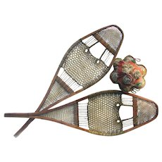 Antique Native Made Snowshoes Huron Style Kid's Size