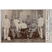 Photo China German Boxer Rebellion Cabinet Card c1900 - Card 2 of 2