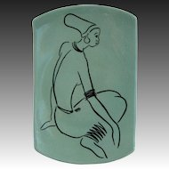 French Art Pottery ZULU WOMAN by Drostdy Ware South Africa