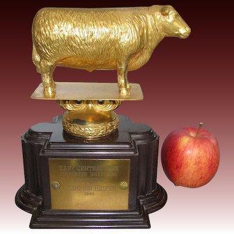 Champion Heifer Trophy Livestock Trophy Hereford Breeders Iowa 1949