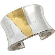 Givenchy Wide Minimalist Cuff with Chrome-Like Finish