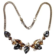 Givenchy Faux 'Black Diamond', Topaz and Opaline Crystal Necklace