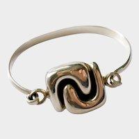 Modernist Interlocking CC Bangle Bracelet, Scandinavian-Style