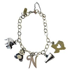 James Avery Vintage Charm Bracelet with Five Charms