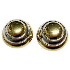 Lanvin Oversize 'Beehive' Earrings, Two-Tone Gold and Silver