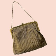 Tale of Two Whiting & Davis Purses: No. 1, 1920s-1930s Gilded Chain Mesh Bag