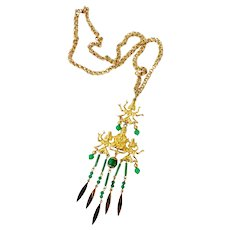 Hindu Buddha & Goddess Kali Necklace & Single Earring: ART (Art Mode)