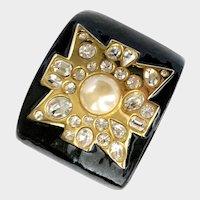 KJL Kenneth Lane Iconic Maltese Cross Cuff Bangle Bracelet