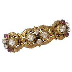 Chanel 1984 Renaissance-Style Brooch with Gripoix Poured Glass, Crystals