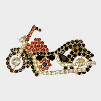 Blingy Red & Black Rhinestone Bike Pin: J.J. Jonette Company