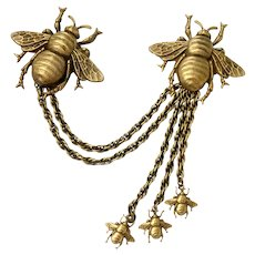 Joseff of Hollywood Iconic Swarm of Bees Chatelaine Pin: Book Pc.