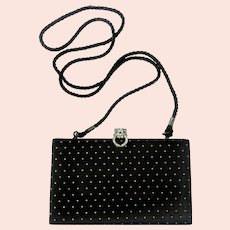 KJL Famous 'Duchess Panther' Motif Quilted Evening Clutch/Crossbody Bag