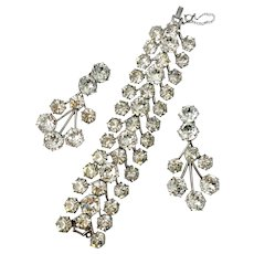Schiaparelli Scarce Faux Diamond 'Headlights' Bracelet & Drop Earrings