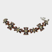Schiaparelli Deep Amber, Golden and Pale Topaz Crystal Bracelet