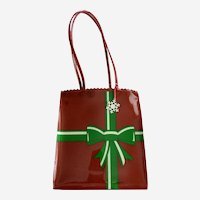 'Santa Baby' Holiday Tote Bag with Snowflake Tag: Liz Claiborne