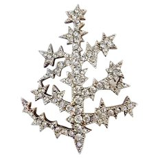 Metropolitan Museum of Art Sterling 'Fabergé Ice Crystal Tree' Pin: Super Rare, Book Pc.