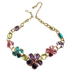 Trifari Pastel 'Jelly Belly' Floral Necklace