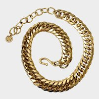 Givenchy Golden Curb Chain Statement Necklace