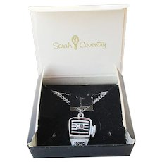 NEW In Box! 1970's Vintage Sarah Coventry CB Radio 10-40 Mike Necklace