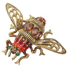 Rare Large Joan Rivers Vintage Queen Bee Pin