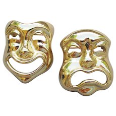 Signed Joan Rivers Comedy & Tragedy Mask Scatter Pins, MINT!