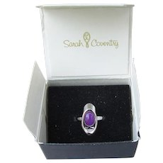 Signed Sarah Coventry Vintage 1977 SUGARPLUM Ring, NEW In Box!