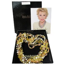Joan Rivers Vintage Torsade Necklace, Neutrals, New In Box!