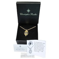 Christopher Radko Christmas Holiday Sparkle Interchangeable Pendant Necklace