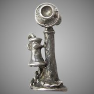 Vintage 1920's Sterling Silver Candlestick TELEPHONE Charm