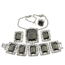 HUGE 1962 Vintage Sarah Coventry CELEBRITY Ring, Necklace or Brooch, Bracelet & Earrings 4 Piece Set